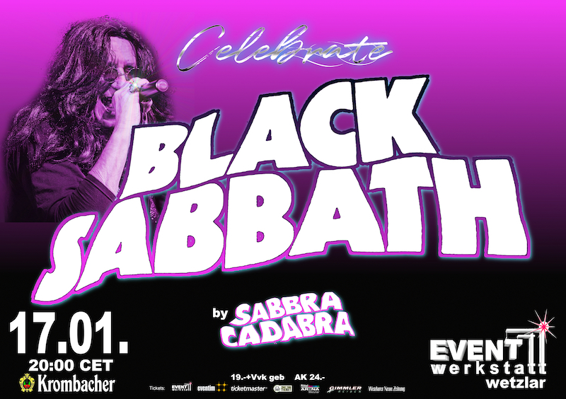 17.01. Europe's No.1 Tribute Bands: Black Sabbath played by Sabbra Cadabra